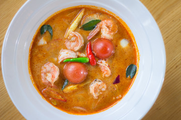 Spicy sour soup Seafood