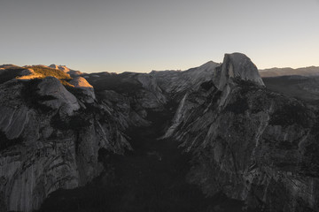 First Light on Half Dome - from Glacier Point - Yosemite National Park