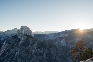 First Light on Half Dome - from Glacier Point - Yosemite
