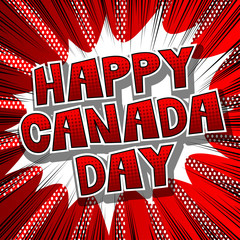 Vector illustrated banner, greeting card or poster for Canada Day.