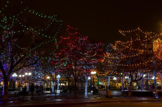 Santa Fe Plaza Christmas Lights