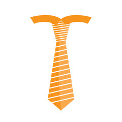 Striped necktie icon
