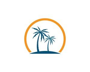 Palm tree  logo template