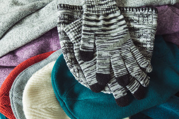 packing winter apparel for keep warming