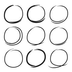 black grunge circle markers