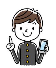 男子学生:スマートフォン