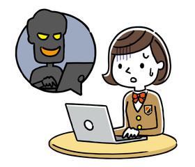 女子学生:インターネット、犯罪、詐欺