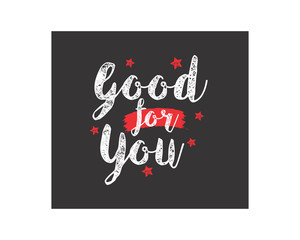 good for you text typography typeface typeset logotype alphabet image vector icon 4