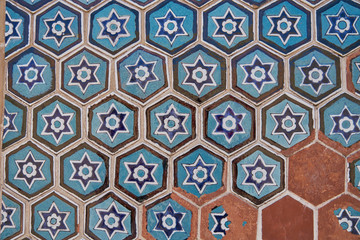 Blue islamic pattern from Uzbekistan