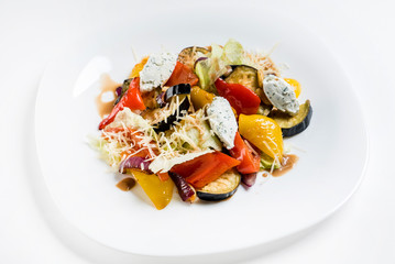 salad from roasted vegetables