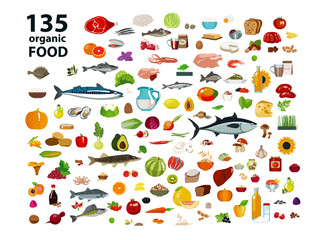 135 organic products.