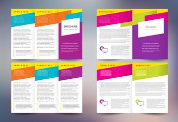 Business brochure design template folder leaflet booklet abstract colored stripes background