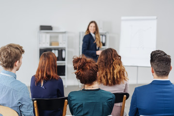 Group of young professional people in a meeting