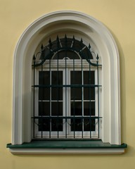 Old renovated window, semicircular, baroque