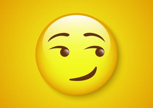 smirk face