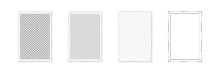 Hochformat verschiedene Briefmarken Stile