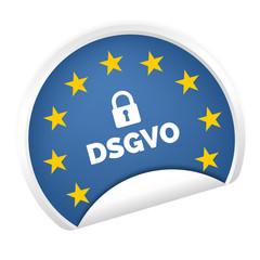 DSGVO Datenschutz-Grundverordnung Aufkleber Europa