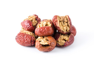 Red date stuffed with walnut