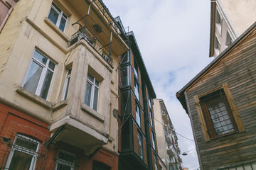 low angle view of buildings in Istanbul, Turkey