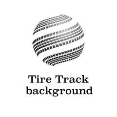 Waves tire tracks