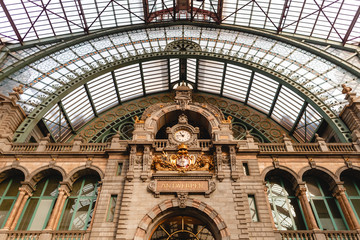 Photo Blinds Antwerp famous antwerpen-centraal station in Antwerp, Belgium
