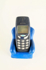 Close-up of mobile phone cellphone holder
