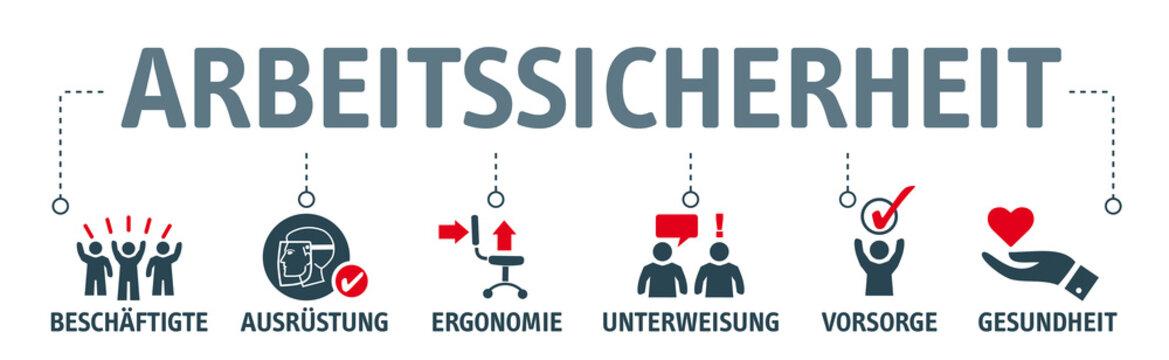 Banner Arbeitssicherheit Konzept Vektor Illustration