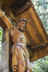 Wooden sculpture of Jesus Christ