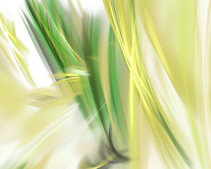 yellow green fractal