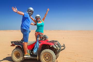 Quad trip on african desert of Egypt
