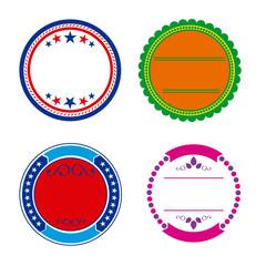 Insignas o etiquetas redondas