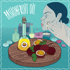 Passionfruit oil used for skin care