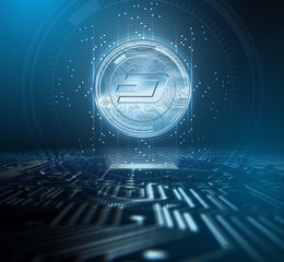 Cryptocurrency Dash And Circuit Board