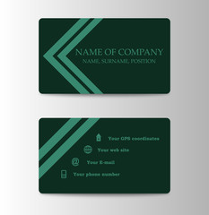 Corporate ID Card Design Template. Personal id card for business and identify