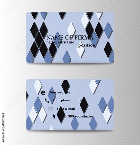 Vector modern creative and clean business card template diamond vector modern creative and clean business card template diamond shaped background in personal card colourmoves