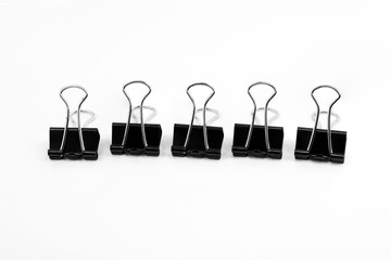 Binder clip, Paper clip isolated on white background