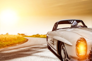 summer car and road