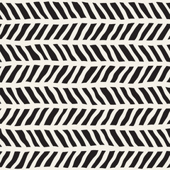 Simple ink geometric pattern. Monochrome black and white strokes background. Hand drawn texture for your design
