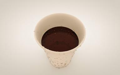 Paper cup render