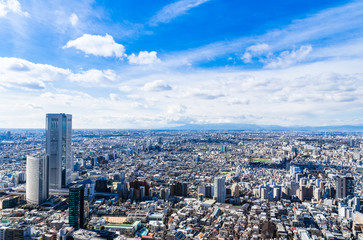 東京 住宅街が広がる都市風景