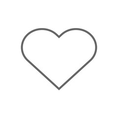 Heart outline symbol. Like button. Vector icon.