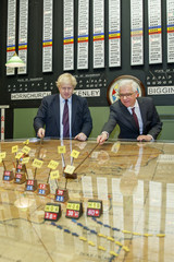 Britain's Foreign Secretary Boris Johnson and the Polish Foreign Minister Jacek Czaputowicz visit a Battle of Britain bunker at RAF Northolt in Uxbridge