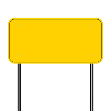 sign road yellow,Sign yellow on white background.vector illustration