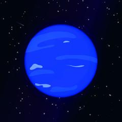 Neptune planet vector illustration.