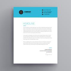 Elegant Letterhead Cover Letter Template Design In Minimalist Style