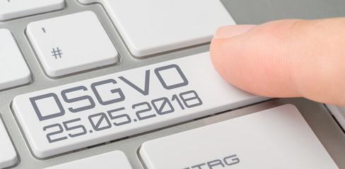 Tastatur mit beschrifteter Taste - DSGVO