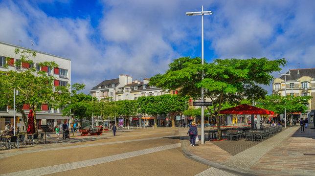 Bretagne Lorient Centre Ville Downtown Place Jules Ferry