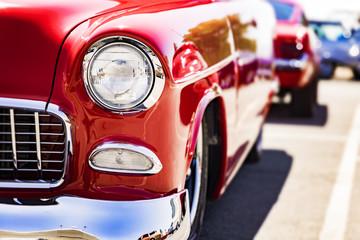 Fotomurales - Classic car headlights close-up