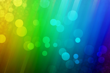 Rainbow background with different size of bubbles