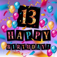 13th years Anniversary Celebration Design